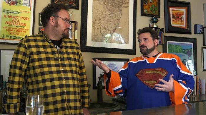 Jon Schnepp and Kevin Smith in The Death of Superman Lives, What Happened