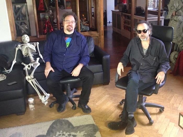 Jon Schnepp and Tim Burton in The Death of Superman Lives, What Happened (2)