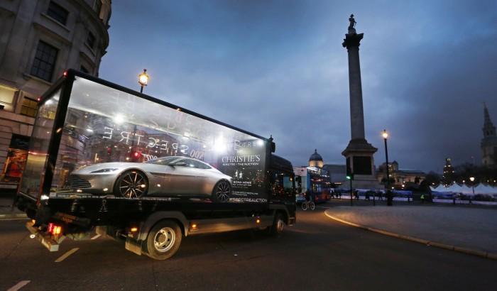 Bond's Spectre Aston Martin DB10 car tours the UK before auction, 12th February 2016, London, UK