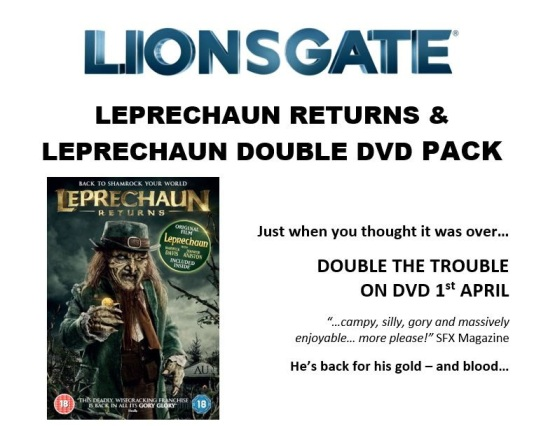 Leprechaun Returns On Dvd With Original Movie Leprechaun 1st April 2019 This episode is an excerpt from megabyte mondays radio program. leprechaun returns on dvd with